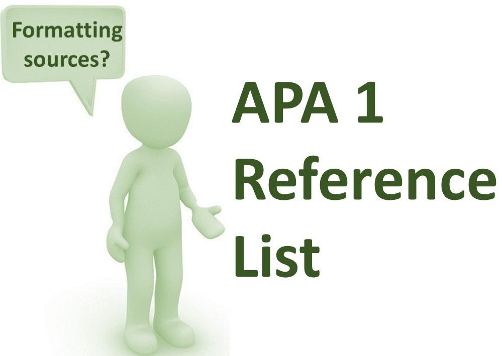 APA 1 Reference List -- Del Rio -- Wed 4:00 - Apr 15