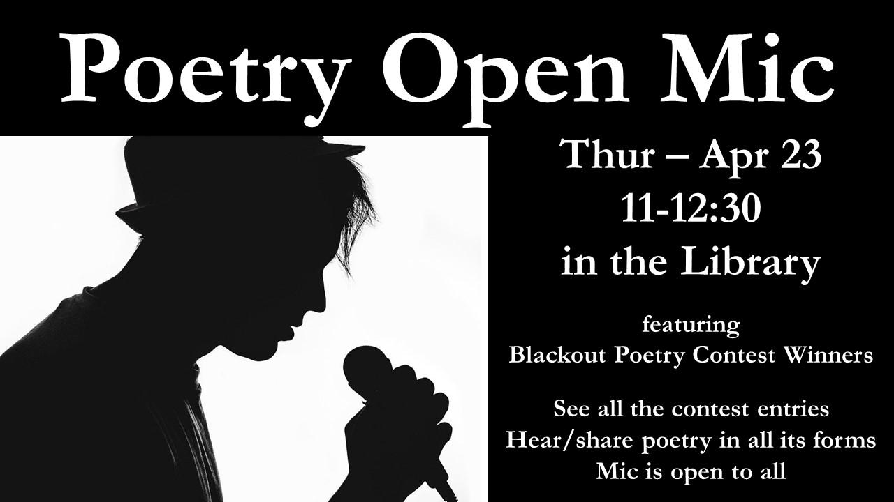 Poetry Open Mic - Del Rio - 11:00-12:30 - Thur Apr 23