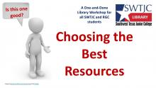Choosing the Best Resources Workshop